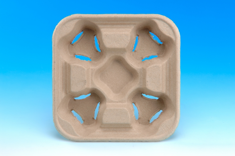 4 Cup Holder Paper Tableware Series Biodegradable Product