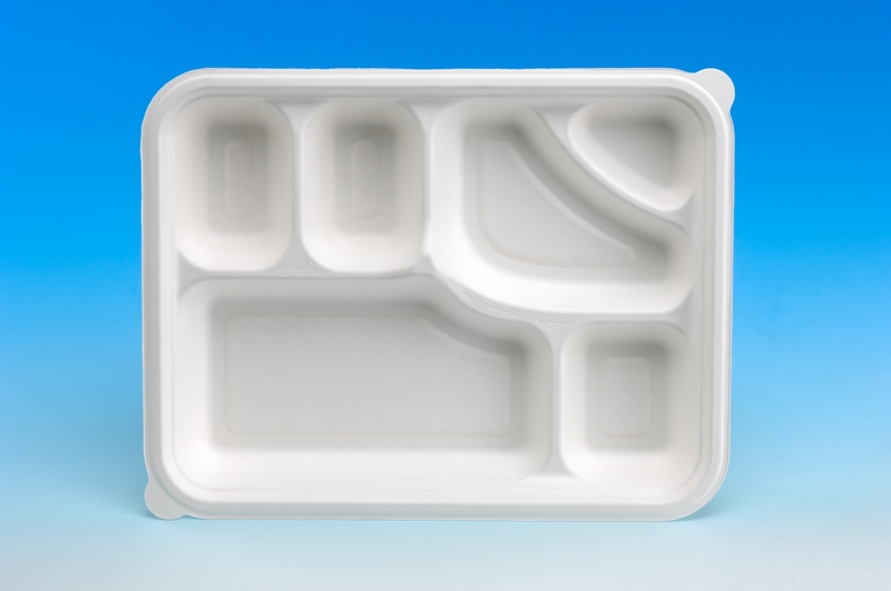 6-Compartment Big Meal Tray/disposable tableware series ...