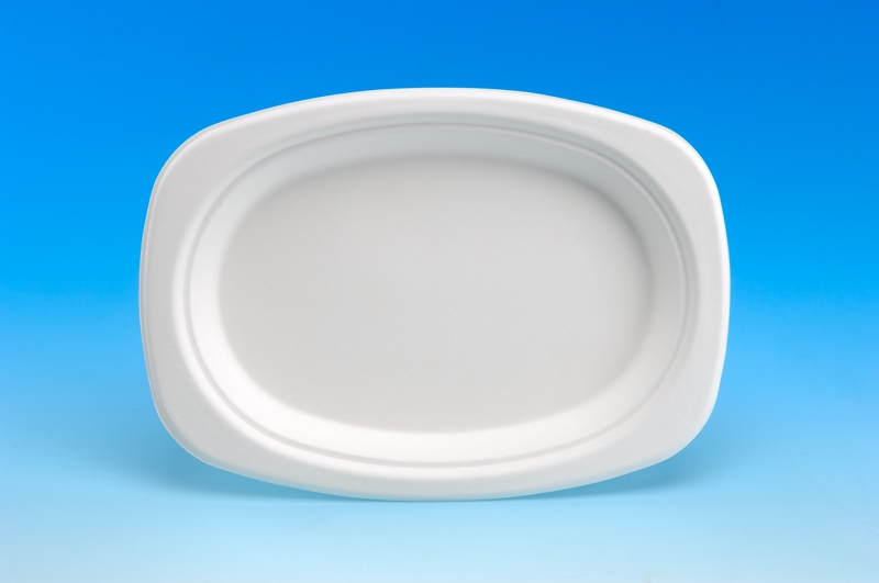 HomeBiodegradable ProductsPaper tableware · Oval Plate 9 inch & Oval Plate 9 \